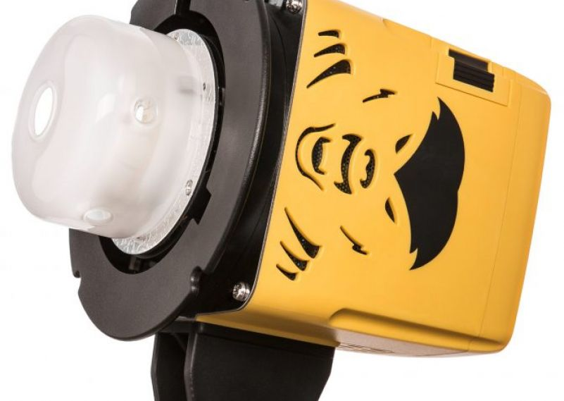 The Interfit Honey Badger Unleased, 250 watts, battery-powered flash with H