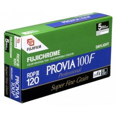 Fujifilm Provia 100F 120, ISO 100, Pack of 5