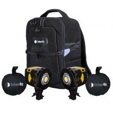 Interfit Badger Beam 60w Two Head Video Lighting Softbox Kit with Backpack