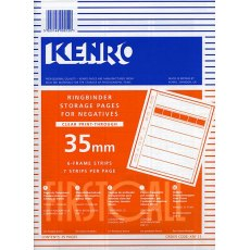 Kenro Negative Pages, Print Thru Acetate, 35mm, 25 sheets