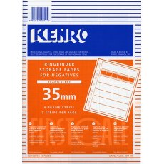 Kenro Negative Pages, Paper, 35mm, 25 sheets