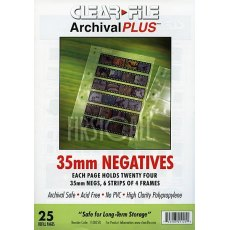 Clearfile 11B Negative Pages 35mm Archival Plus Pack of 25