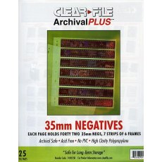 Clearfile 14B Negative Pages 35mm Archival Plus Pack of 25