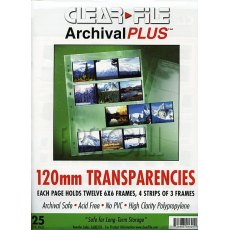 Clearfile 16B Negative Pages 6x6cm Archival Plus Pack of 25