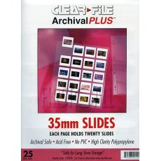 Clearfile 21B Slide Pages 35mm Archival Plus Pack of 25