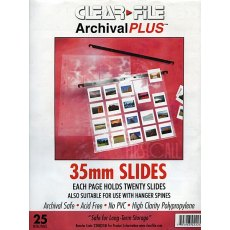 Clearfile 22B Slide Pages 35mm Archival Plus Pack of 25