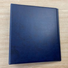 Clearfile Storage Sheet Binder 4 Ring, 85, Blue padded