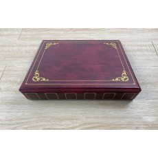 Clearfile Storage Sheet Binder 4 Ring, 87, Maroon padded