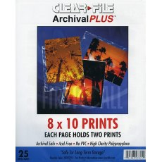 Clearfile 38B Print Pages 8x10in Archival Plus Pack of 25