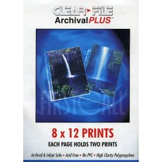 Clearfile 40B Print Pages 8x12in Archival Plus Pack of 25