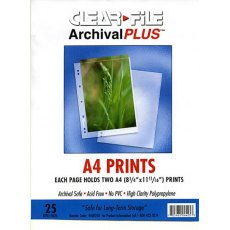 Clearfile 44B Print Pages A4 Archival Plus Pack of 25
