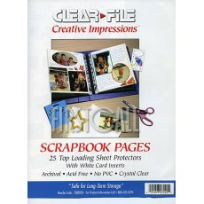 Clearfile 72B Print Pages 8.5 x 11in Archival Plus, Pack of 25