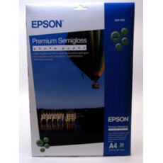 Epson SO41332, Premium Semigloss Photo Paper, A4, Pack of 20