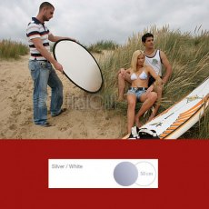 Lastolite Collapsible Reflector Silver/White, 50cm - 2031