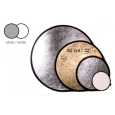Interfit INT 268 Circular Reflector 32in, Silver/White