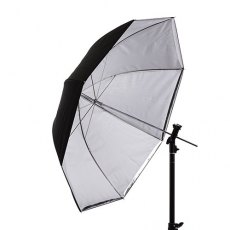 Interfit U3TRSI Translucent/Silver Convertible Umbrella, 36 inch