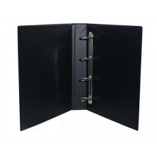 Clearfile Storage Sheet Binder 4 Ring, 84 Black non-padded