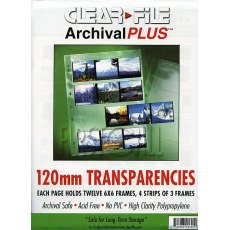 Clearfile 16B Negative Pages 6x6cm Archival Plus Pack of 100