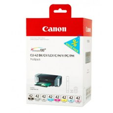 Canon Ink Jet Cartridge CLI-42 BK/GY/LG/C/M/Y/PC/PM Multipack
