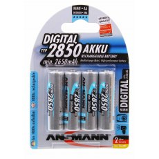 Ansmann Ni-MH 2850 mAh Rechargeable AA size, Pack of 4