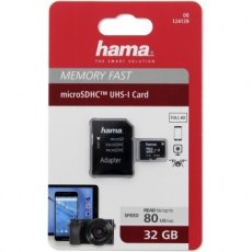 Hama microSDHC 32GB Class 10 UHS-1 + Adapter / Mobile