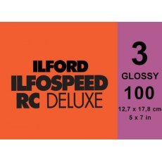 Ilford Ilfospeed Grade 3 Glossy, 5 x 7in, Pack of 100