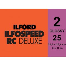 Ilford Ilfospeed Grade 2 Glossy, 8 x 10in, Pack of 25
