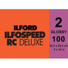 Ilford Ilfospeed Grade 2 Glossy, 8 x 10in, Pack of 100