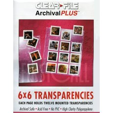 Clearfile 23B Slide Pages 6x6cm Archival Plus Pack of 25