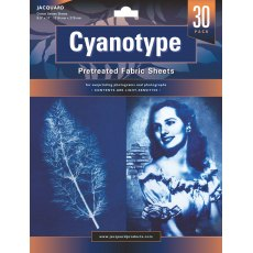 Jacquard Cyanotype Pretreated Fabric Sheets - 30 pack