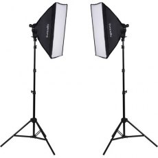 Interfit F5 Twin Head Fluorescent Softbox Kit
