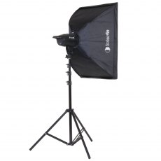 Interfit INT 902 F121 100w Head Kit c/w Softbox & Stand