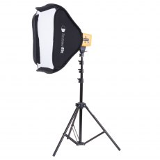 Interfit HB3202K2 Twin Honey Badger Head, Stands, Umbrella & Softbox Kit