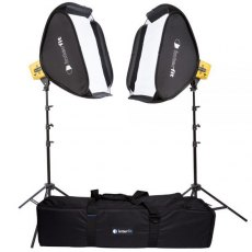 Interfit HB3202K1 Twin Honey Badger Head, Stands & Softboxes Kit