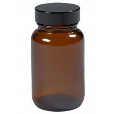 Firstcall Chemical Amber Glass Powder Jar, 100ml