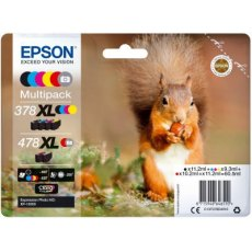 Epson Ink Jet Cartridge T478XL Squirrel, Multipack