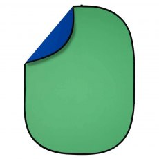 Interfit Collapsible Background 1.5 x 2m, Reversible, Chroma Green/Blue