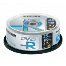 Fujifilm DVD-R Recordable DVD 4.7GB, 16x, Spindle of 25