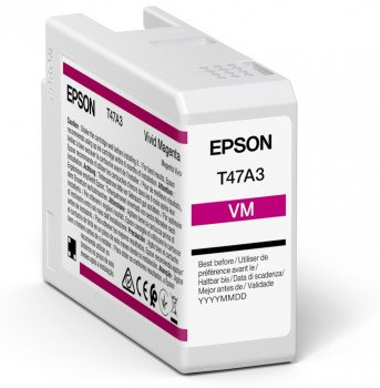 Epson Ink Jet Cartridge T47A3, 50ml, Vivid Magenta