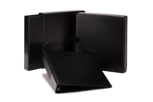 Kenro Kenro Slipcase and Ringbinder, 4 Ring, Black