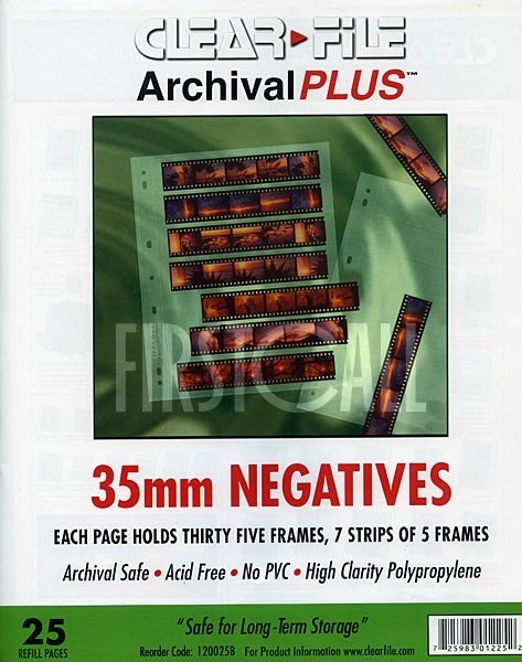 Clearfile Clearfile 12B Negative Pages 35mm Archival Plus Pack of 25