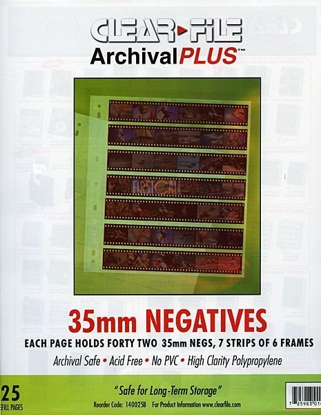 Clearfile Clearfile 14B Negative Pages 35mm Archival Plus Pack of 25