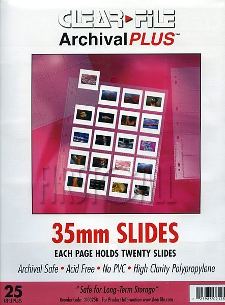 Clearfile Clearfile 21B Slide Pages 35mm Archival Plus Pack of 25