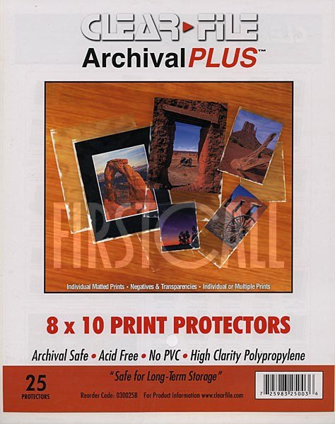 Clearfile Clearfile 030B Print Protectors 8x10in Pack of 25