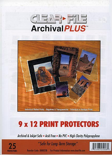 Clearfile Clearfile 080B Print Protectors 9x12in (A4) Pack of 25