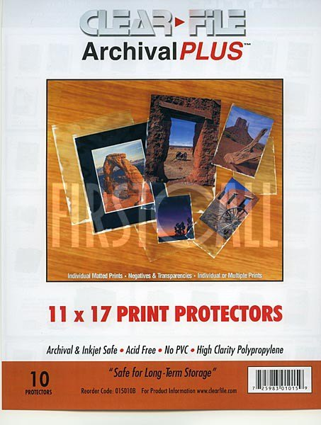 Clearfile Clearfile 015B Print Protectors 11x17in Pack of 10