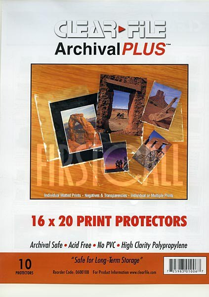 Clearfile Clearfile 060B Print Protectors 16x20in Pack of 10