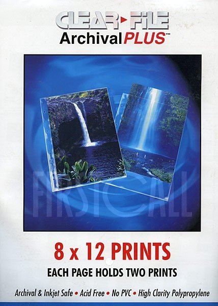 Clearfile Clearfile 40B Print Pages 8x12in Archival Plus Pack of 25