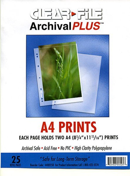 Clearfile Clearfile 44B Print Pages A4 Archival Plus Pack of 25