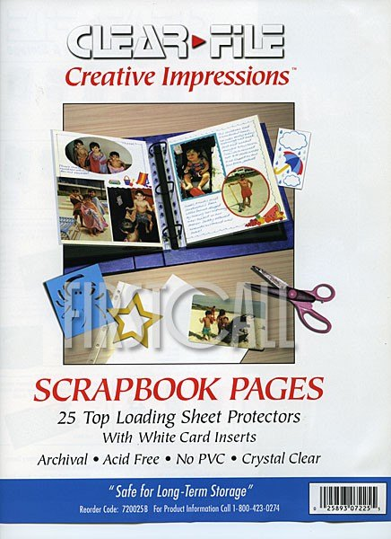Clearfile Clearfile 72B Print Pages 8.5 x 11in Archival Plus, Pack of 25